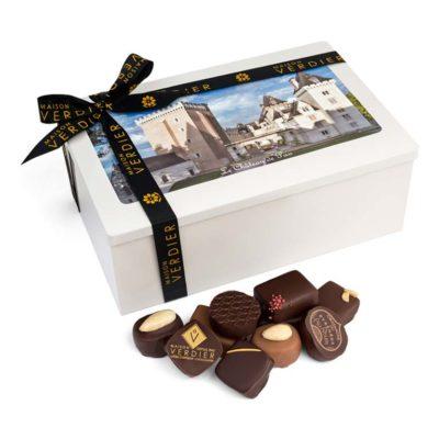 Assortiment de chocolats fins en boite 'Chateau de Pau'
