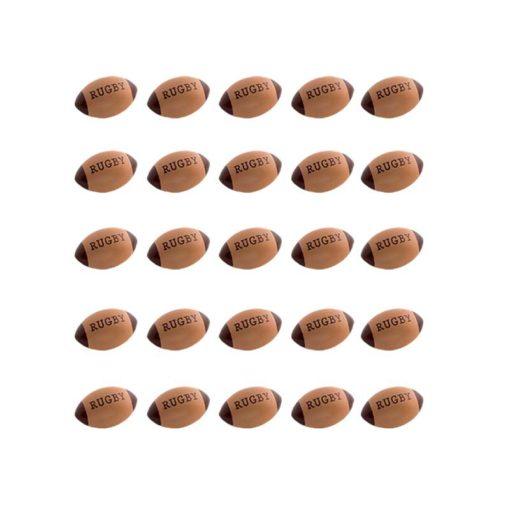 Ballons de rugby au chocolat, confiserie à l'image du rugby
