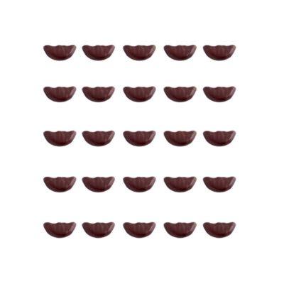 Rouelle au chocolat, tranche d'orange confite enrobée de chocolat