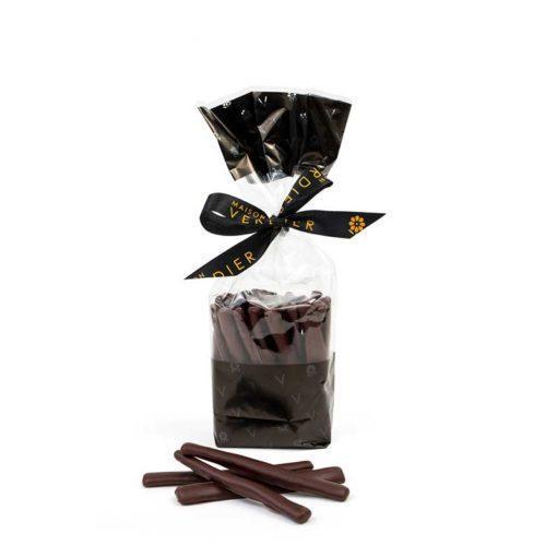 Orangettes, écorces d'oranges confites avec enrobage chocolat noir
