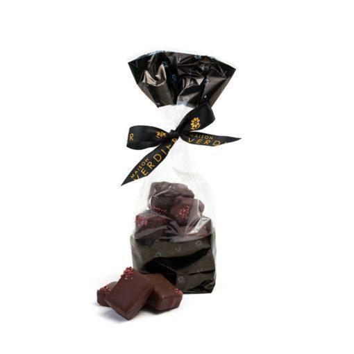 Rosalie chocolatée, Ganache au chocolat et à la framboise sauvage