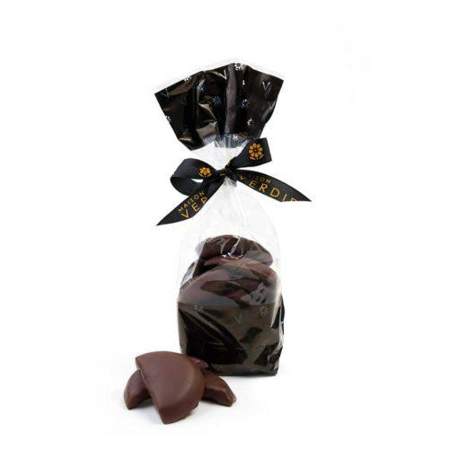 Rouelle Noire, belle tranche d'orange confite enrobée de chocolat noir