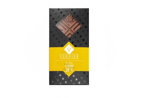 tablette chocolat 39% origine perou