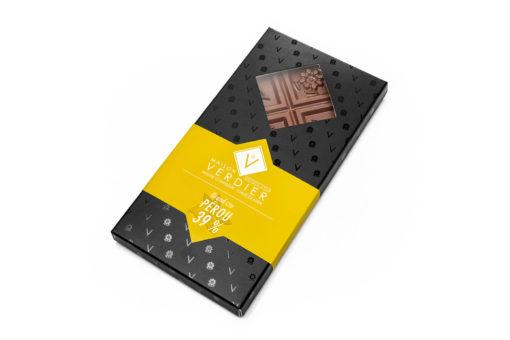 tablette de chocolat 39% origine perou