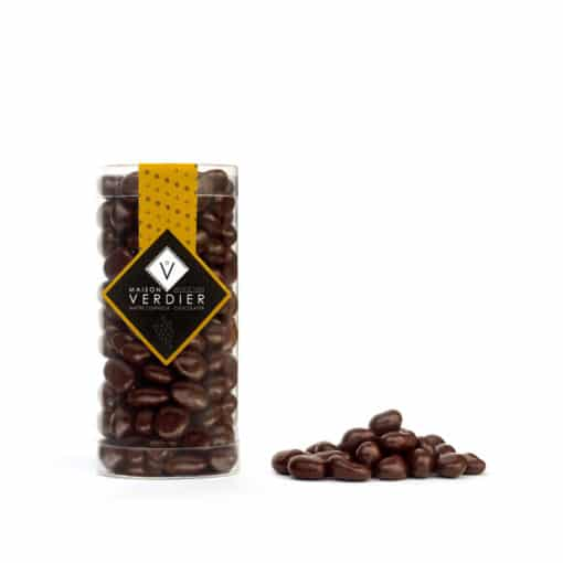 Enrobag chocolats noirs pour ce raisins macérés dans du Sauternes