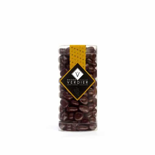 Raisins dorés, délicieux raisin macéré au sauternes enrobés de chocolat noir